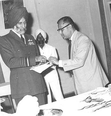Air Marshal Arjan Singh with Mr. JK Kate