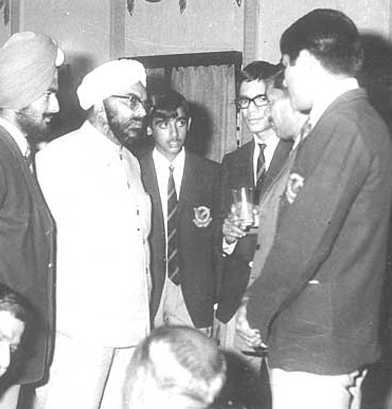 Editorial Team, Class of 1972, interviewing the then Speaker Sardar GS Dhillon