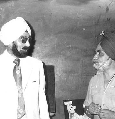 General Harbaksh Singh with Gp. Capt. AJS Grewal