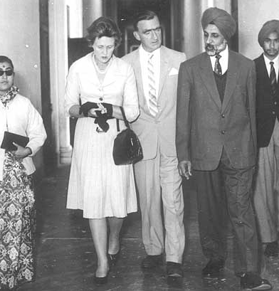 Senior Master Dr. Surjit Singh with the British High Commissioner and his wife