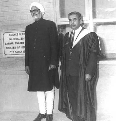 Inauguration of Science Block, Sardar Swaran Singh, Headmaster AR Gupta