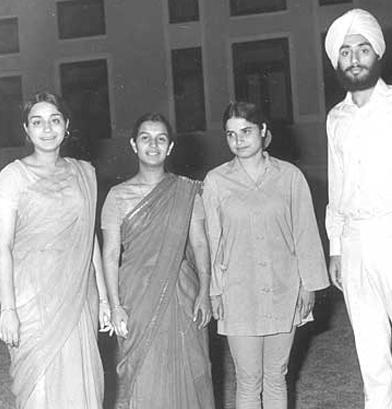 First Girls at PPS, Meena Punia, Jyoti Kate, Basanti Mathu with Raghuvinder Punia