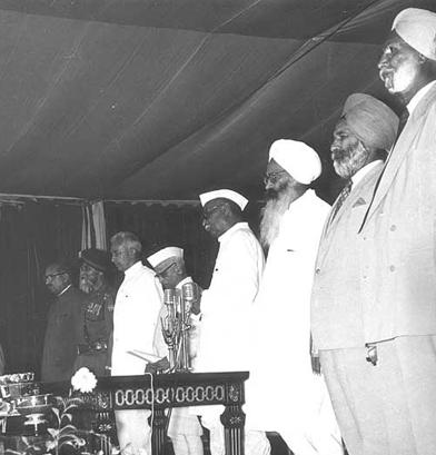 What a frame! PPS Inauguration R-L Col Naunihal Singh, Gen. Kulwant Singh, CM Punjab Sd. Pratap S. Kairon, Pres. India Dr. Rajender Prasad, Gov. Punjab NV Gadgil
