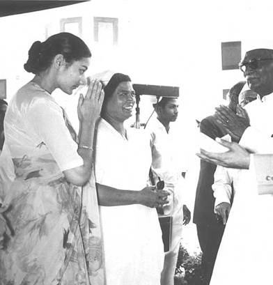 Pres. of India at the School inauguration, Ms. McMullen