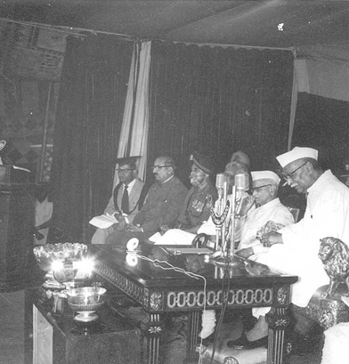 Pres. of India, Dr. Rajendra Prasad at the School Function