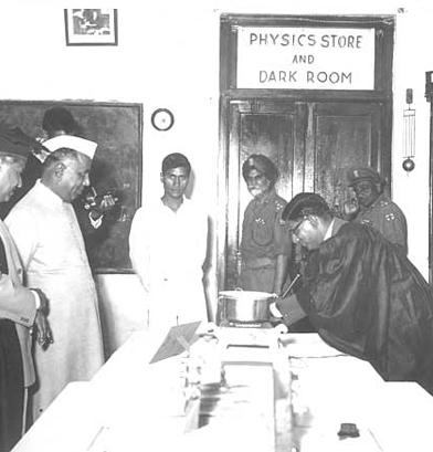 Mr. YB Chavan with Mr. IB Kakkar at the Physics Exhibition