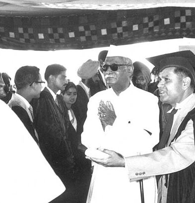 At the School Inauguration, Pres. of India Dr. Rajendra Prasad with Mr. Kate